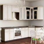 Кухня цвет-белый, стиль-классический, тип-угловая, кухня классическая К61
