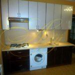 цвет-черный/серый, стиль-модерн, прямая, кухня Модерн М36