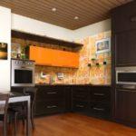 цвет-темный, стиль-модерн, угловая, кухня Неаполь