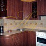 цвет-коричневый, стиль-модерн, угловая, кухня Модерн М72