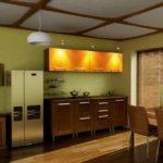 цвет-коричневый, стиль-модерн, прямая, кухня Лаура