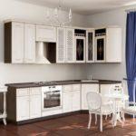цвет-белый, стиль-модерн, угловая, кухня Анжелика