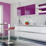 цвет-белый, стиль-модерн, прямая, кухня Аннетта