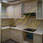 цвет-бежевый, стиль-модерн, угловая, кухня Модерн М56