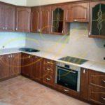 цвет-коричневый, стиль-модерн, угловая, кухня Модерн М58