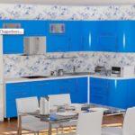цвет-синий, стиль-модерн, угловая, кухня Милена