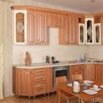 Цвет- орех золотой_ваниль, стиль- классический, тип- угловая, кухня Марго