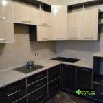 кухня бежево-коричневая, стиль-модерн, тип-угловая, кухня модерн М48