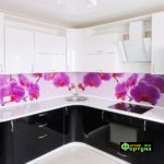 кухня черно-белая, стиль-модерн, тип-угловая, кухня модерн М39