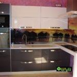 кухня черно-белая, стиль-модерн, тип-угловая, кухня модерн М42