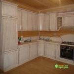 кухня цвет-белая, стиль-классический, тип-п-образная, кухня-классическая К33-4