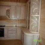кухня цвет-белая, стиль-классический, тип-п-образная, кухня-классическая К33-5