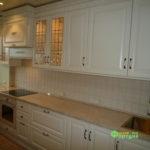 кухня цвет-белый, стиль-классический, тип-прямая, классическая К10-1