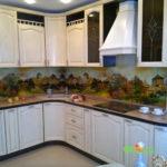 кухня цвет-белый, стиль-классический, тип-радиусная, кухня классическая К2