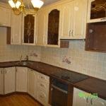 кухня цвет-белый, стиль-классический, тип-угловая, кухня классическая К16
