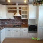 кухня цвет-белый, стиль-классический, тип-угловая, кухня-классическая К24-1