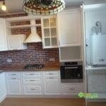 кухня цвет-белый, стиль-классический, тип-угловая, кухня-классическая К24-2