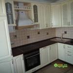 кухня цвет-белый, стиль-классический, тип-угловая, кухня классическая К37