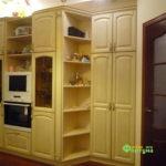 кухня цвет-белый, стиль-классический, тип-угловая, кухня классическая К38-4