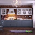 Кухня цвет-белый, стиль-классический, тип-угловая, кухня классическая К60