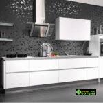 кухня цвет-белый, стиль-минимализм, тип-прямая, кухня Модерн М66