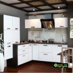 кухня цвет-белый, стиль-минимализм, тип-угловая, кухня Капри