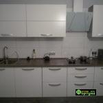 кухня цвет-белый, стиль-модерн, тип-прямая, кухня модерн М57
