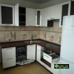 кухня цвет-белый, стиль-модерн, тип-угловая, кухня модерн М56-1