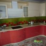 кухня цвет-бежевая, стиль-модерн, тип-радиусная, кухня модерн М14-1