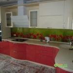 кухня цвет-бежевая, стиль-модерн, тип-радиусная, кухня модерн М14-2