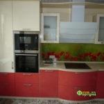 кухня цвет-бежевая, стиль-модерн, тип-радиусная, кухня модерн М14-5