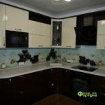 кухня цвет-бежево-коричневый, стиль-модерн, тип-угловая, кухня модерн М22