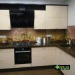 кухня цвет-бежевый, стиль-модерн, тип-угловая, кухня модерн М25-1