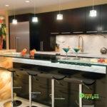 кухня цвет-черный, стиль-модерн, тип-с островом, кухня модерн М17