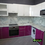 кухня цвет-фуксия, стиль-модерн, тип-угловая, кухня модерн М28