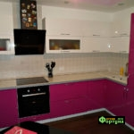 кухня цвет-фуксия, стиль-модерн, тип-угловая, кухня модерн М34