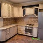 кухня цвет-кантри, стиль-классический, тип-угловая, кухня классическая К14
