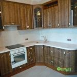 кухня цвет-кантри, стиль-классический, тип-угловая, кухня классическая К21