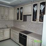 кухня цвет-кантри, стиль-классический, тип-угловая, кухня классическая К40