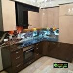 кухня цвет-каппучино, стиль-модерн, тип-угловая, кухня модерн М26