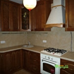 кухня цвет-каштан, стиль-классический, тип-угловая, кухня классическая К50