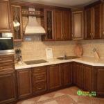 кухня цвет-кедр, стиль-классический, тип-угловая, кухня-классическая К30