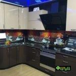 кухня цвет-коричневая, стиль-модерн, тип-угловая, кухня модерн М65