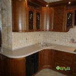 кухня цвет-коричневый, стиль-классический, тип-радиусная, кухня классическая К17-2