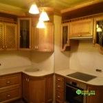 кухня цвет-коричневый, стиль-классический, тип-радиусная, кухня классическая К18