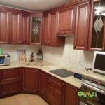 кухня цвет-коричневый, стиль-классический, тип-угловая, кухня классическая К15