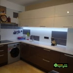 кухня цвет-коричневый, стиль-модерн, тип-угловая, кухня модерн М67
