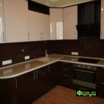 кухня цвет-коричневый, стиль-модерн, тип-угловая, кухня модерн М68