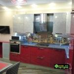 кухня цвет-красный, стиль-модерн, тип-угловая, кухня модерн М29-1