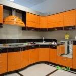 кухня цвет-лорена, стиль-модерн, тип-радиусная, кухня модерн М15